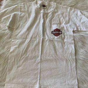 Frieze Harley-Davidson Ofallon, IL Pocket t-shirt